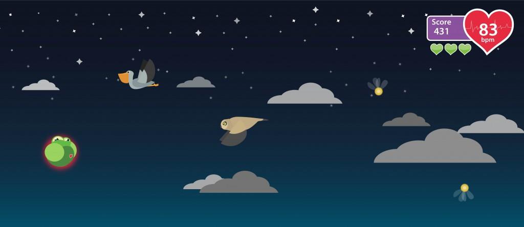 Der Frosch kommt - wenn du den richtigen Puls hast - bis in den Weltraum.