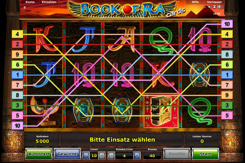 book of ra im browser
