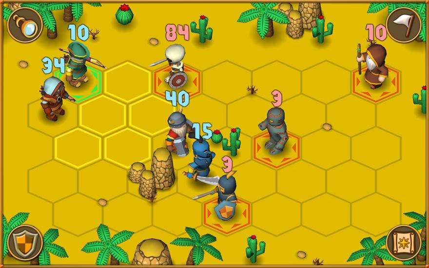 Triffst du auf einen Gegner, schaltet Heroes - A Grail Quest in eine Nahansicht um. Hier befehligst du rundenweise deine Truppenmitglieder.