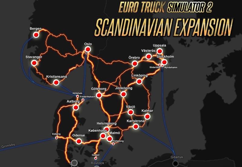Euro Truck Simulator Scandinavia Update