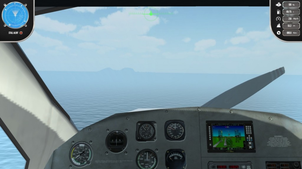 Der Island Flight Simulator bietet dir 3 Spielperspektiven.