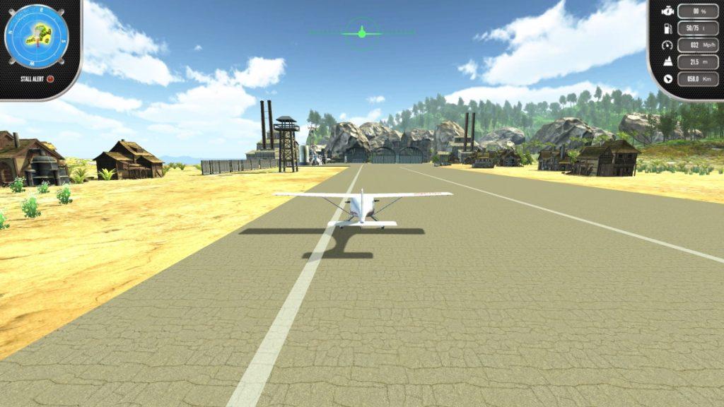 Der Simulator verzeiht auch grobe Fehler bei Start, Landung und Flug.