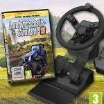 Landwirtschafts-Simulator 15 Gold Edition: So sieht das Lenkrad im Einsatz aus
