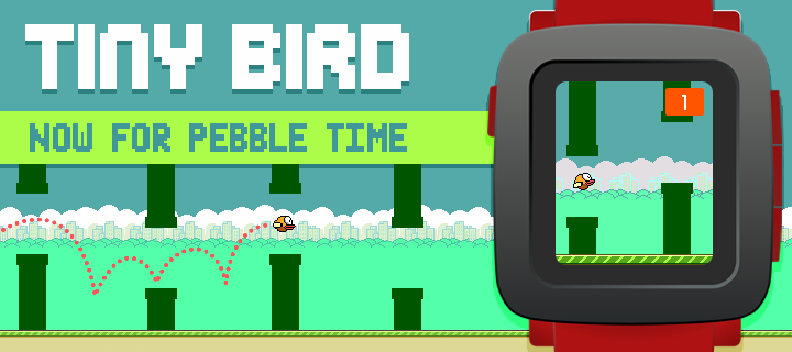 flappy bird pebble watch