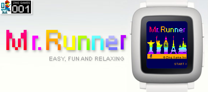mr runner pebble watch