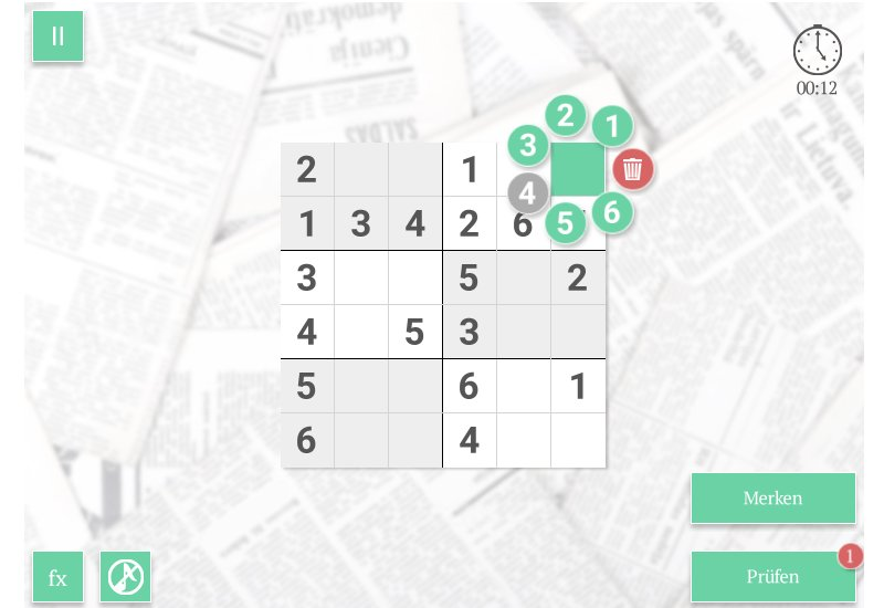 Sudoku Online Screenshot 800x550
