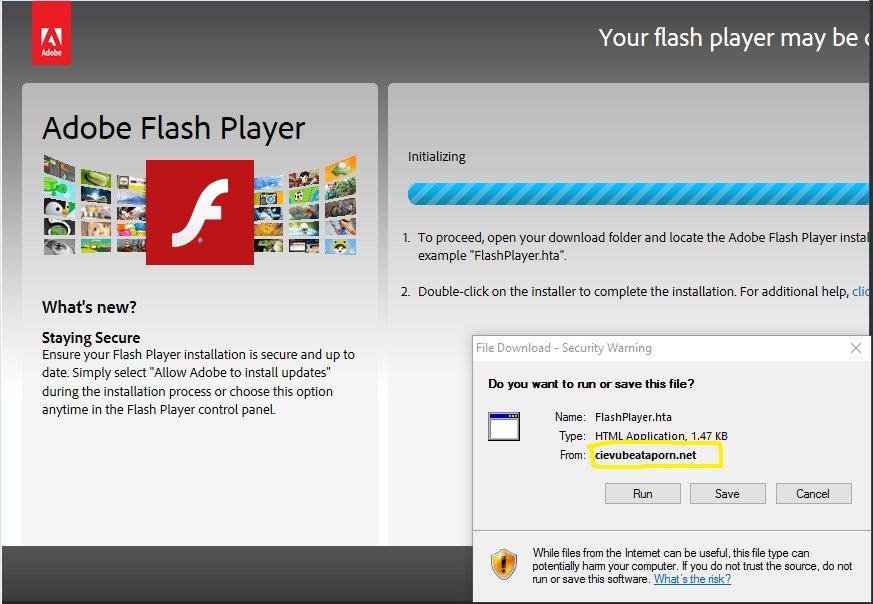 Ziemlich echt: So sieht ein gefälschter Flash-Download aus (Bild: Casey Lynn Foster)