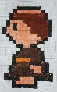 So sieht der Pixel Luther auf Papier aus.
