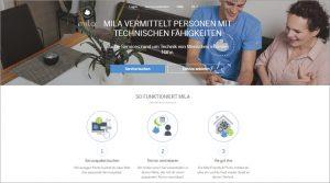 Die Startseite von mila.com (Bild: Mila)