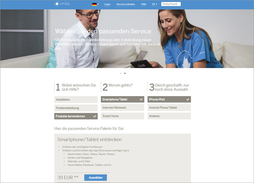 Screenshot von mila.com (Bild: Mila)